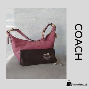 COACH HOBO Fuchsia Glove-tanned Cowhide Leather